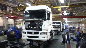установка кабины на раму автомобиля КАМАЗ 5490 NEO